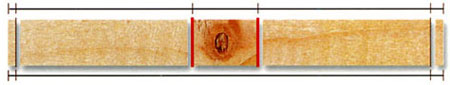 Режим двусторонней обрезки с маркировкой линий
