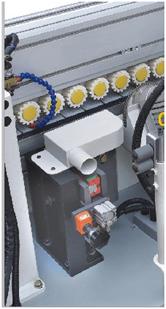Кромкооблицовочный станок FL-6000RS, узел предварительного фрезерования