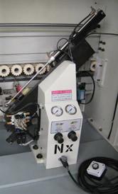 Кромкооблицовочный станок FL-6000RS, узел торцевой обрезки