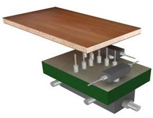 Сверлильно-присадочный станок с ЧПУ CNC 1000, схема обработки
